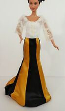 BARBIE DOLL NEW ORIGINAL BEAUTIFUL ONE PIECE LONG DRESS TOP. CLOTHES ACCESSORIES