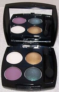 AVON True Color Eyeshadow Quad FEMME FATALE Earth Tones Purple Teal Brown NIB