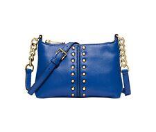 Michael Kors Astor Chain Crossbody Messenger bag (Electric Blue/Gold) NWT