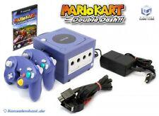 Nintendo GameCube - console #purple + Mario Kart + 2 gamepads + equipment