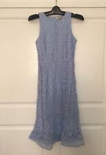 Lace Dress Light Blue Size 8 Midi Work Church Birthday Holiday Cocktailz Party