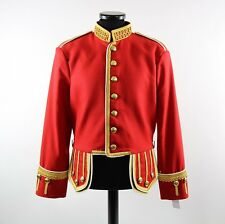 Drum Major Scot Guard Military Doublet Red Jacket for Highland Bagpipe Band Wool