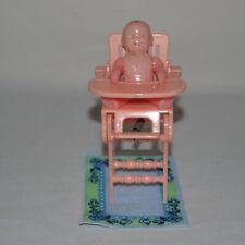 Dollhouse Miniature Ideal Highchair Rocker Renwal Baby Vintage Pink Plastic