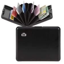 Ogon Large Black Aluminium Wallet