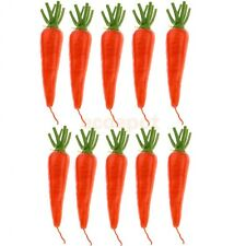 10pcs/pack Lifelike Artificial Carrot Radish Vegetables Kitchen Home Decor
