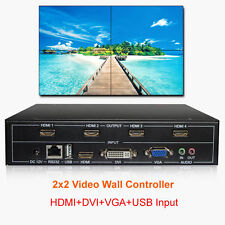 Controlador de pared TV 2x2 Hdmi Dvi Vga Usb Procesador de pared de video 4 pantallas con empalmes