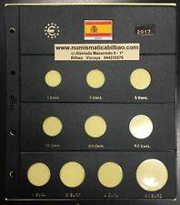 HOJA PARDO para las MONEDAS EURO ESPAÑA 2017 + 2€ ASTURIAS + 30 EUROS PLATA ROMA