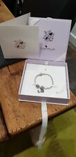 Chamilia Sterling Silver snap clasp bracelet with charms  19cm NIB