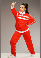 Womens Sporty Spice Style Red Tracksuit Costume