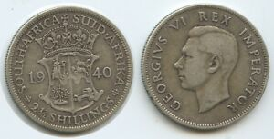 G9519 - South Africa 2½ Shillings 1940 KM#30 VF Silver George VI. Südafrika
