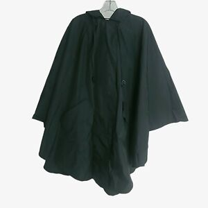 TRAVEL SMITH Hooded Snap Up Poncho Cape Rain Jacket Windbreaker Size S/M