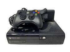 Microsoft Xbox 360 E 4 Gb Black Console Bundle w Controller Tested Oem