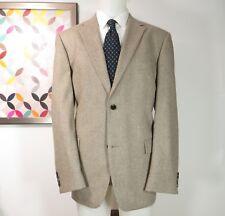 Hugo Boss Recent Wool flannel brown beige herringbone sports coat jacket 44 R