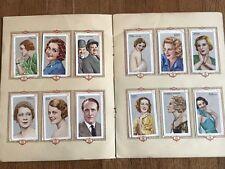 Album Figurine FILM STARS 1934 COMPLETE sticker star movie card pelicula cinema