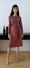 ROBE-PULL VINTAGE RAYURES ROUGE/NOIR/BLANC TAILLE 38/40 dress abito ropa kleid