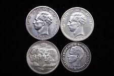 Belgium Silver Coins 1939,1940,1950,1958.4 Pcs(B)