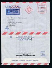 04340) Dänemark  Aerogramme meter 90 Öre Fa.-Zudruck >  US Embassy Congo