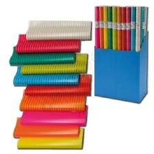 10 Rollen Geschenkpapier Colour Mix Papier 2m x 0,70m