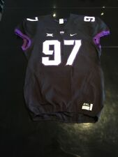 Game Worn Used Nike TCU Horned Frogs Football Jersey #97 Size XXL