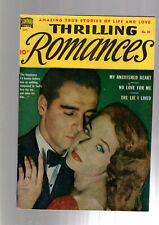 THRILLING ROMANCES #10 GOLDEN AGE PRE CODE RACY SEVERIN GOOD GIRL ART 1950