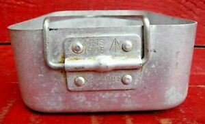 VINTAGE WARTIME 1945 ALUMINIUM BILLET PAN - A. A5880 - GOVERNMENT ISSUE