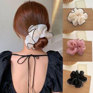 Women Mesh Elastic Scrunchies Ponytail Hair Ring Rope Organza Hair Rubber Bands