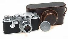 LEICA IIIf RED DIAL SELF TIMER CAMERA ELMAR 3.5/5cm 3F