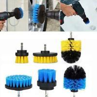 3Pcs/Set Car Electric Drill Brush Hard Bristle Detailing Set Tub Home Clean U0M7