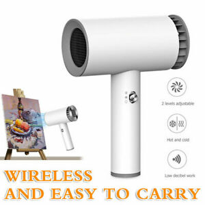 Portable Wireless Hair Blow Dryer USB Charging dual-use For travel art painting