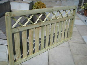 Fence Panels,  Cross Top Style 180cm x 90cm, Ideal Decking Side Panel, Treated