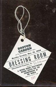November 16 1964 Cassius Clay vs Sonny Liston  Dressing Room Pass NRMT