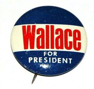 1968 GEORGE WALLACE campaign pin pinback button political presidential election