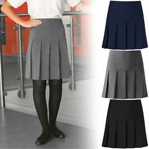 Girls All Round Pleated School Skirt Zip Drop Waist Sizes Girls 9-16-Women 10-20