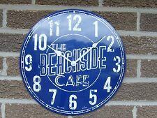 Acctim Beachside Café Blue Dial Dome Tin Case Wall Clock 27759
