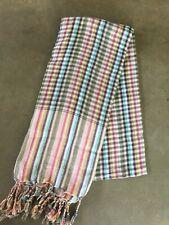 Krama MULTICOLORE traditionnel Echarpe Khmère en coton mixte scarf Cambodge 98