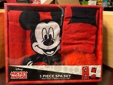 Disney Mickey Mouse 3 Piece Bath/spa Set-Free Shipping