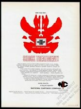 1964 Rorschach inkblot design National Castings Company vintage print ad