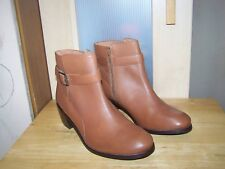 New TOPSHOP Tan Leather  Womens Ankle Boots UK-8 EU-41