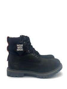 Timberland Premium Waterproof Boot Women's Black Nubuck TB0A2AZ8 Size 7.5