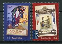 Australia Stamps 2019 MNH WWI WW1 Anzac Memorial Day Flags Military & War 2v Set