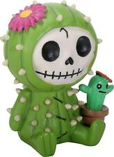FURRYBONES FIGURINE - PRICKLE THE CACTUS -DEC RELEASE SKULL SKELETON IN COSTUME
