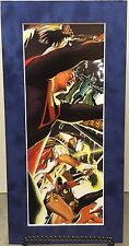 SUPERMAN By ALEX ROSS Pro Suede Matted Print Kingdom Come DC Comics JLA Movie