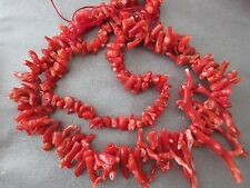 Red Coral Rough Graduated Branches Beads 120pcs