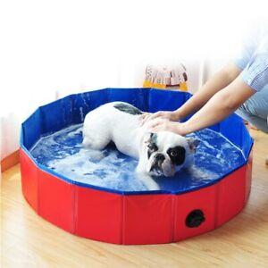 Foldable Bathing Pool Dog Pool Pet Swimming Tub PVC Cleaner Bathtub for Dogs Cat