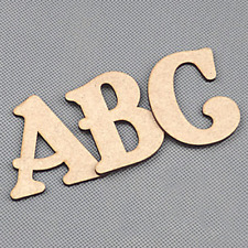 Wooden Letters - Alphabet Words Name - Toy Box - Craft - 50-200mm Belshaw #207