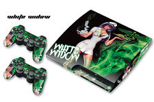 Skin Decal Wrap for PS3 Slim Black Warfare Playstation 3 Cod Console WHITE WIDOW