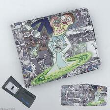 Rick and Morty Wallet Short Bifold Card Holder Purse Colour Otaku Gifts Otaku N4