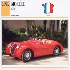 1949 MORERE G.M.L. Racing Classic Car Photo/Info Maxi Card