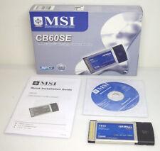 MSI CB60SE PCMCIA WLAN Adapter 802.11b 802.11g Super G 108Mb OVP NEU VKF