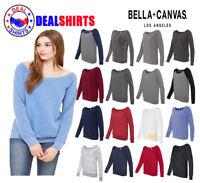 Bella + Canvas - Women's Sponge Fleece Wideneck Sweatshirt S-2XL- 7501